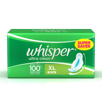 Whisper Ultra Clean Xl Plus With Wing 30 Piece Pack