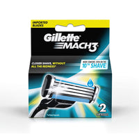 Gillette Mach 3 Manual Shaving Razor Blade'S Cartridge 2S Pack