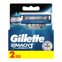 Gillette Mach3 Turbo Manual Shaving Razor Blade'S Cartridge 2S Pack - Anytimeneeds