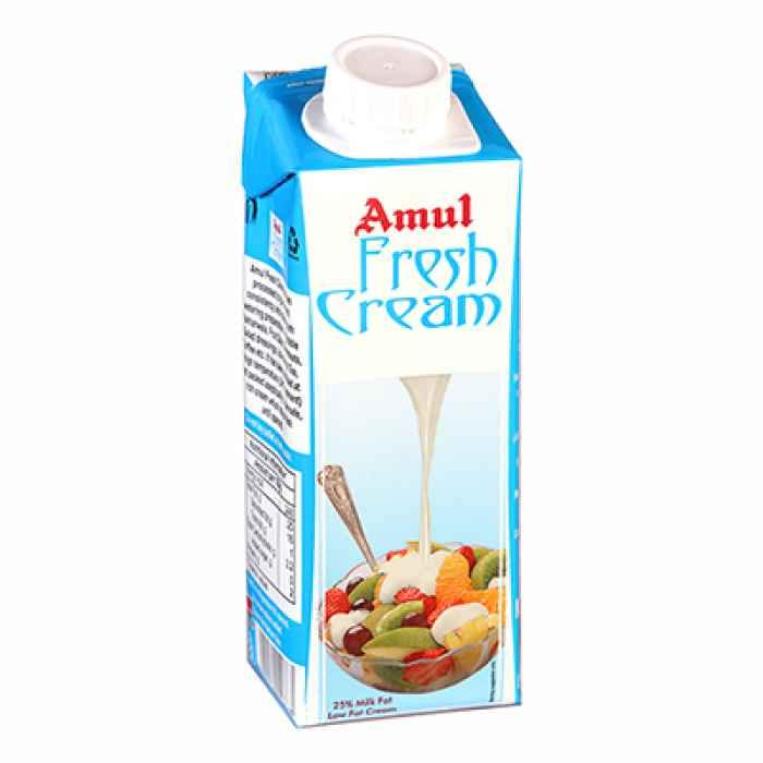 Amul Fresh Cream 250 Ml - Anytimeneeds