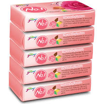 Godrej No-1 Rosewater & Almond 100gm Pack of 5