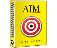 Itc Aim Yellow Matchbox