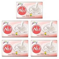 Godrej No-1 Kesar & Milk Cream 100gm Pack of 5
