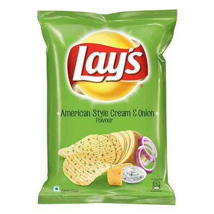 Lays American Style Cream & Onion- 52 Gm