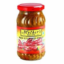 Mother'S Stuffed Red Chilli Pickle 400 Gm