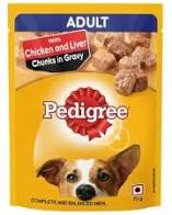 Pedigree With Chicken and Liver Chunks in Gravy 70Gm