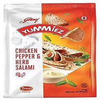 Yummiez Chicken Pepper & Herb Salami 250gm