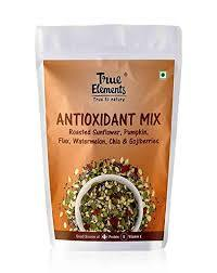 True Elements Antioxidant Mix Roasted Sunflower Pumpkin Flax Seeds Watermelon Chia and Goji Berry 125gm - Anytimeneeds