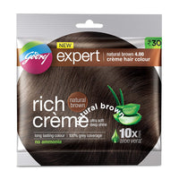Godrej Rich Crã¨Me Hair Color Natural Brown 20 Gm + 20 Ml