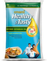 Emami Healthy & Tasty Soya Bean Oil 1 Ltr Pouch