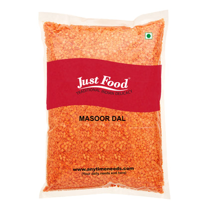 Just Food Masoor Dal Economy 500 Gm - Anytimeneeds