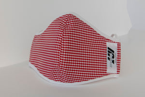 Checkered Red Mask