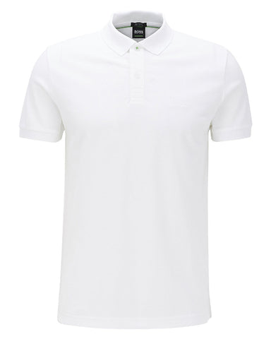 White Piro Logo Polo