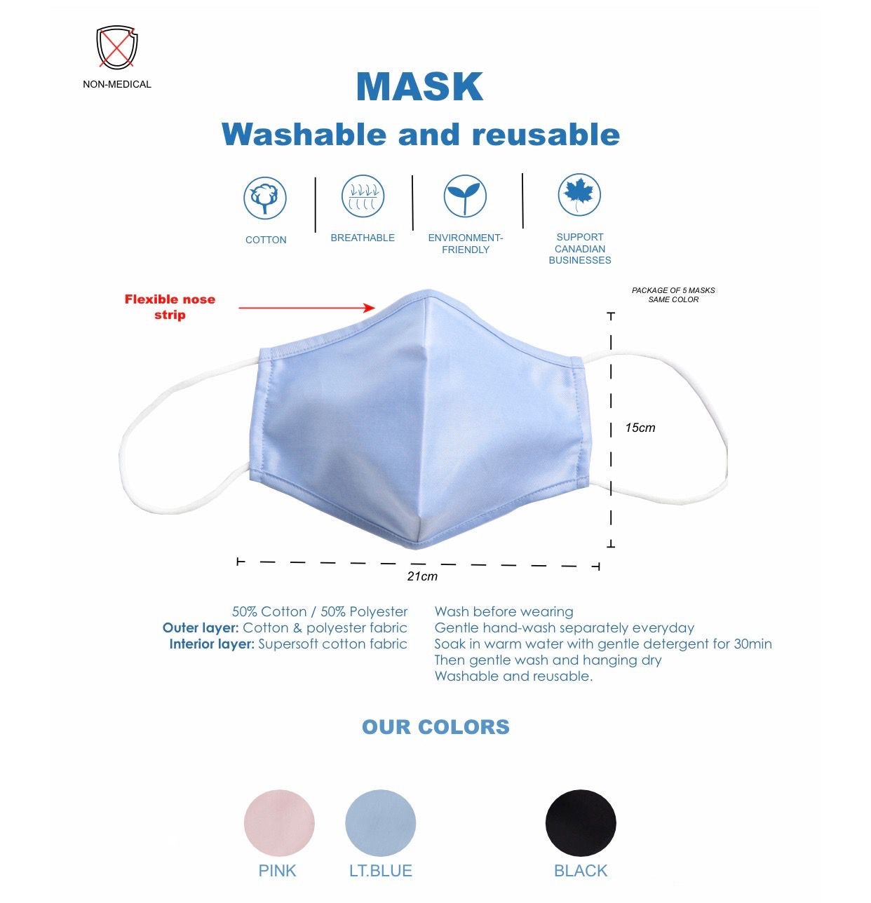 Non-Medical Value Pack (5 Masks)