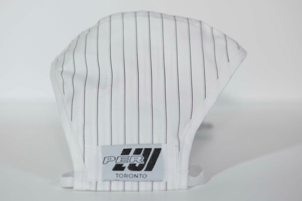 Black & White Pinstripe Mask
