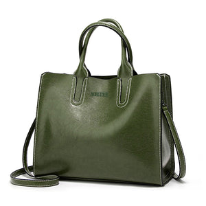 Women's Classic Leather Shoulder Bag