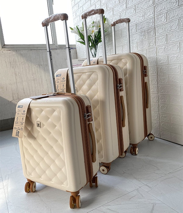 Textured Spinner Suitcase