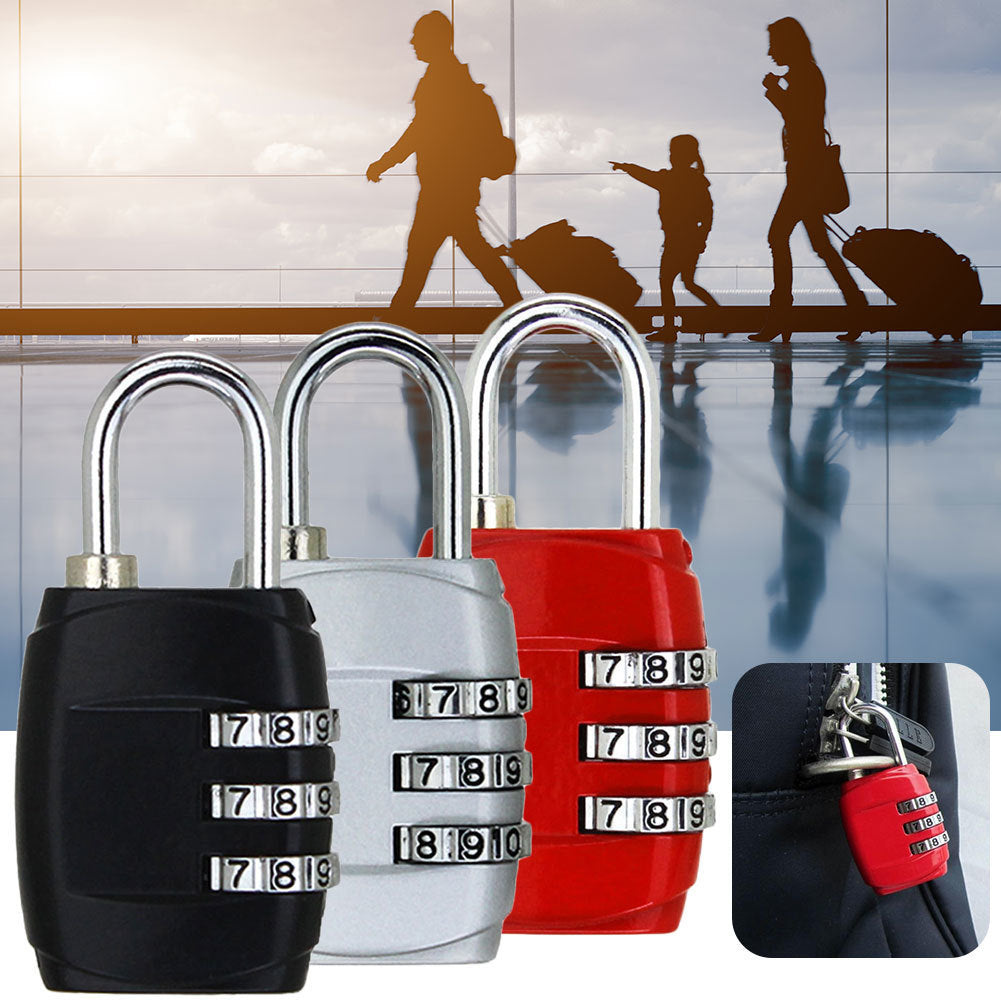 3-Dial Combination Luggage Padlock