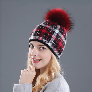 Women's Snowflake Knitted Beanie