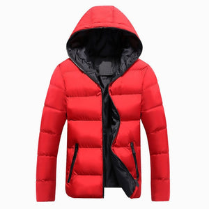 Men's Long-Sleeve Hooded Puffer Jacket