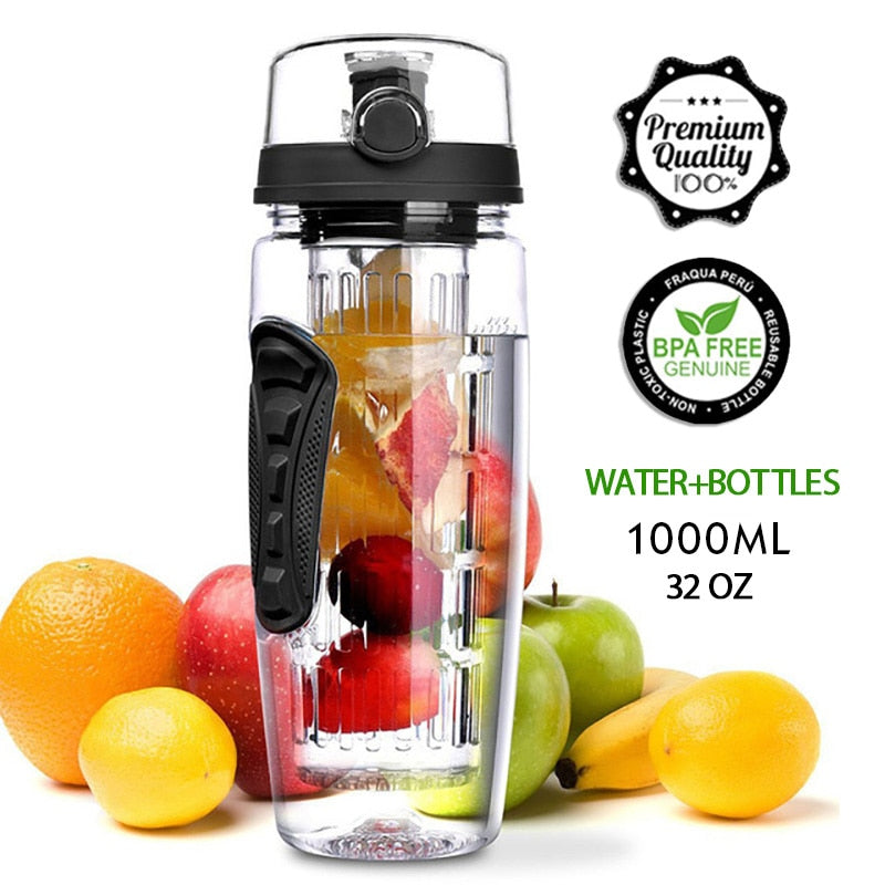Travel Water Bottle with Fruit Infuser