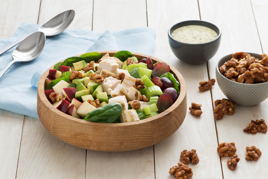 Santé Nuts - Grilled Chicken Salad with Candied Walnuts - Recipe