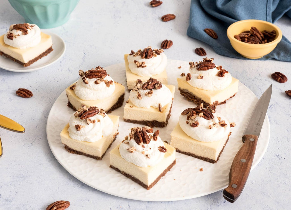 Santé Nuts - Butter Pecan Cheesecake Bars - Recipe