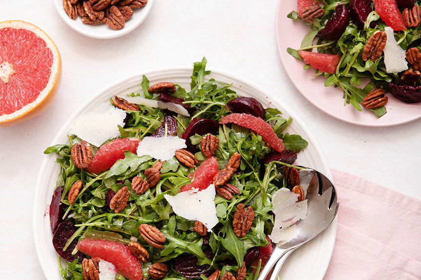 Roasted Beet Citrus and Pecan Salad