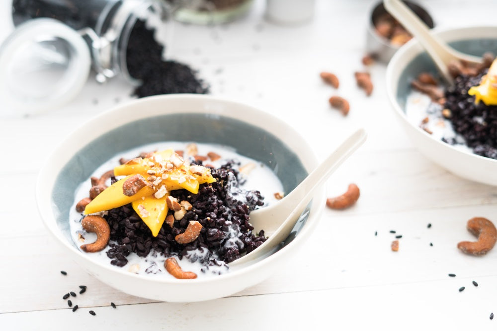Thai Black Rice with Mango and Cashews