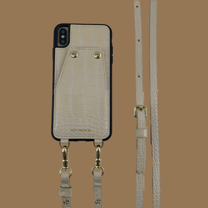 """She's Strong"" Crossbody Case in Cream"