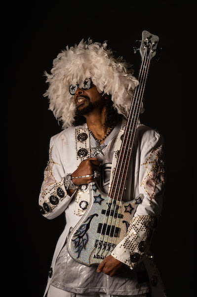 Bootsy Collins Infinity Black Star Bass Portrait