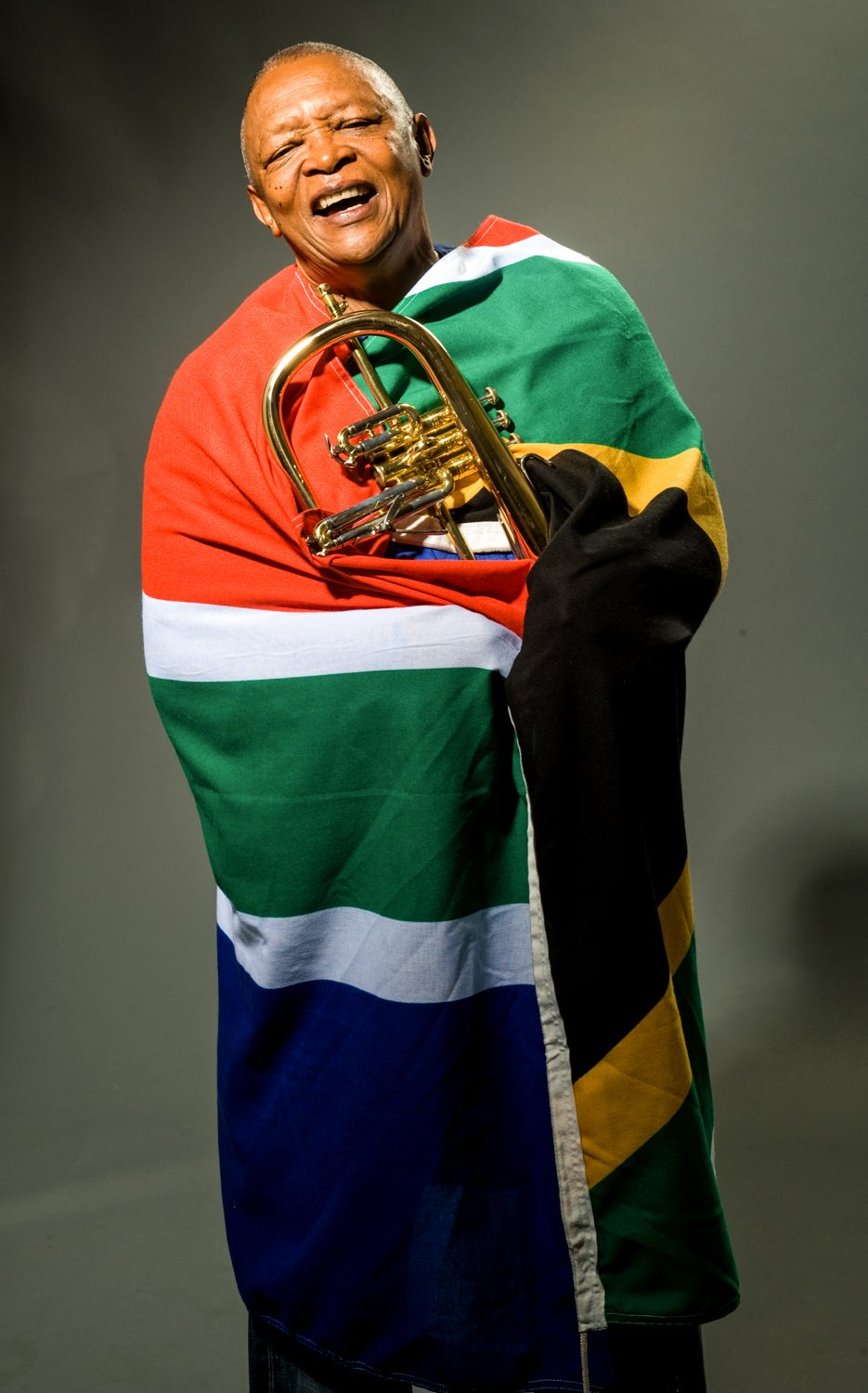 South African Flag Capetown Jazz Festival Hugh Masakela Campaign