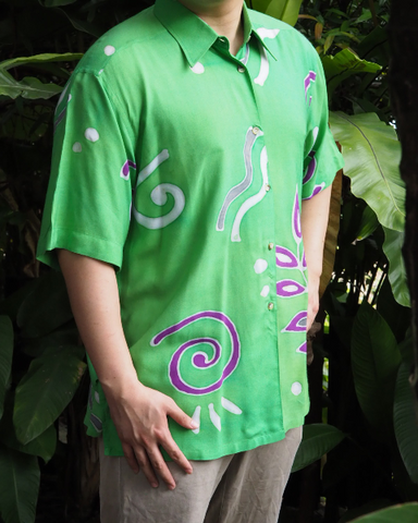 Green Shirt Sleeve Batik SHIRT