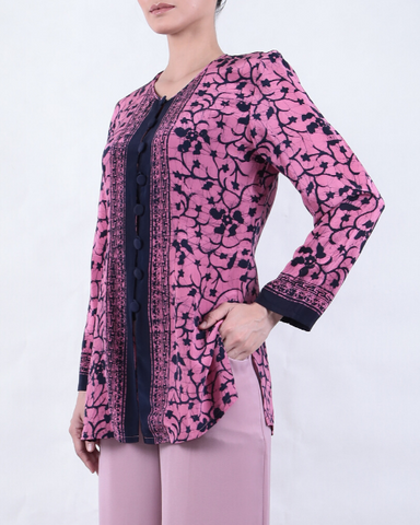 Batik Round Neck BLOUSE with Melati Motif