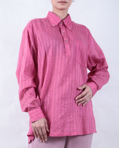 Pink Long Sleeve Batik SHIRT BLOUSE