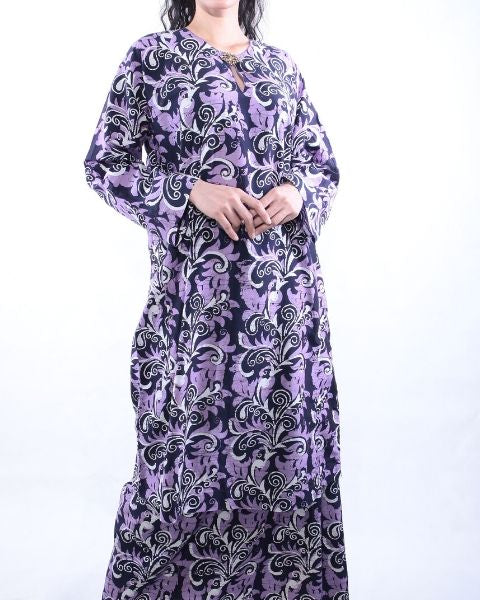 Purple & Black Batik Baju Kurung