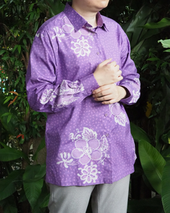 Purple Batik Long Sleeve SHIRT