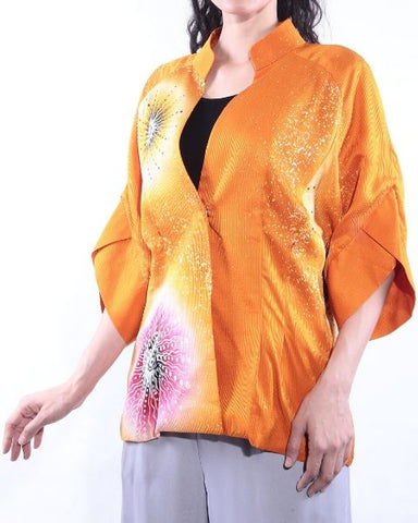 Orange 3/4 Sleeve Batik
