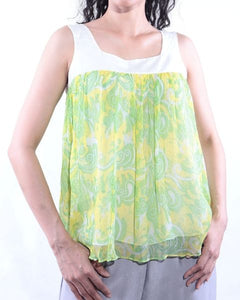 Sleeveless Batik Crop Top