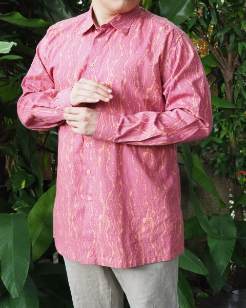 Pink Long Sleeve Batik SHIRT