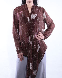 Batik Blouse with Butterfly Motif
