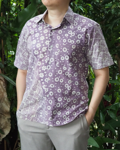 Purple Batik Short Sleeve SHIRT