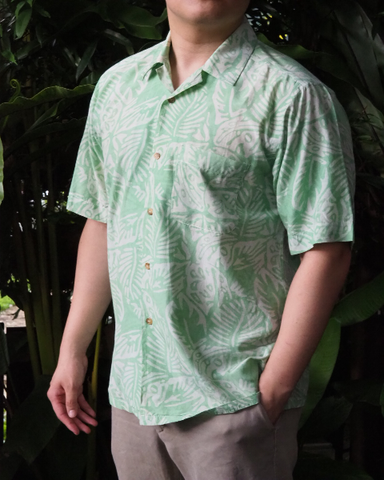 Green Batik Short Sleeve SHIRT