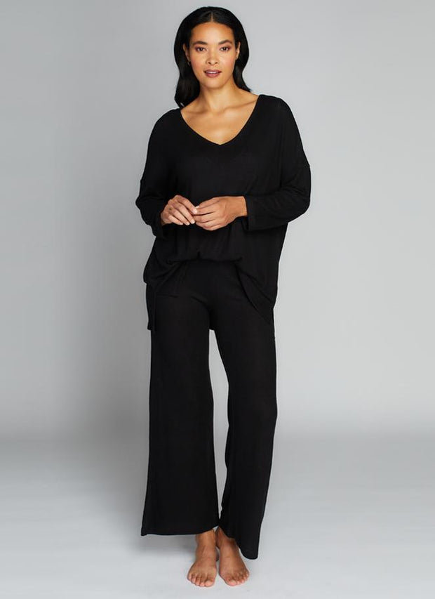 C'EST MOI- Rayon Soft Knit Wide Pants