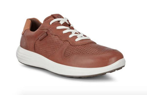 ECCO SOFT 7 RUNNER LACE-UP SNEAKERS BROWN FRONT