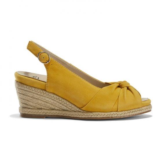 EARTH- THARA BERUMDA WEDGE YELLOW SIDE