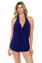 MAGICSUIT SOLIDS BIANCA ONE-PIECE JUMPER NAVY FRONT