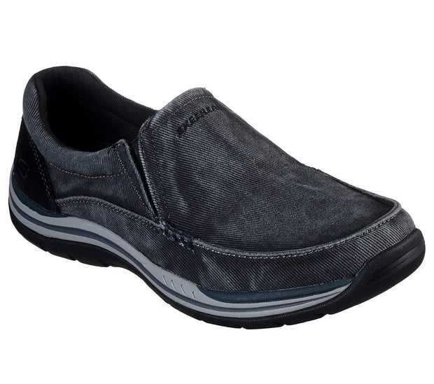 SKECHERS RELAXED FIT EXPECTED AVILLO BLACK SIDE