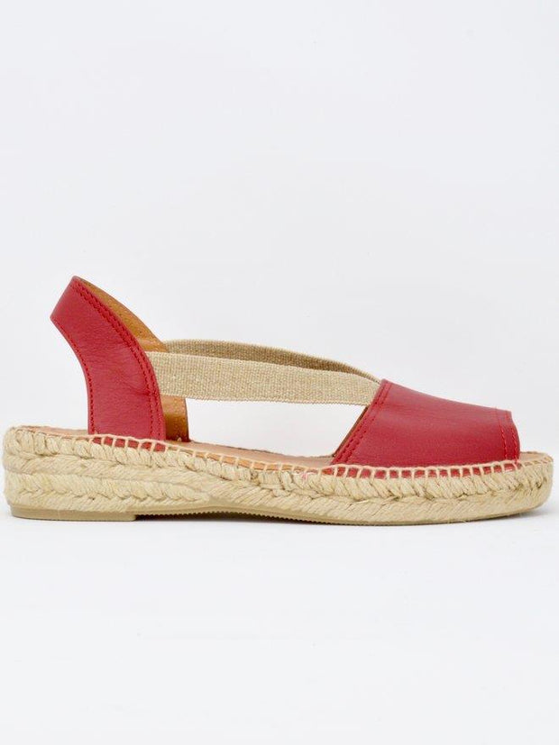 TONI PONS- ETNA FLAT LEATHER ESPADRILLE STEEL PAIR
