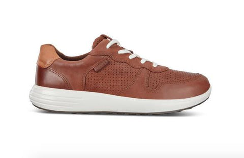 ECCO SOFT 7 RUNNER LACE-UP SNEAKERS BROWN SIDE
